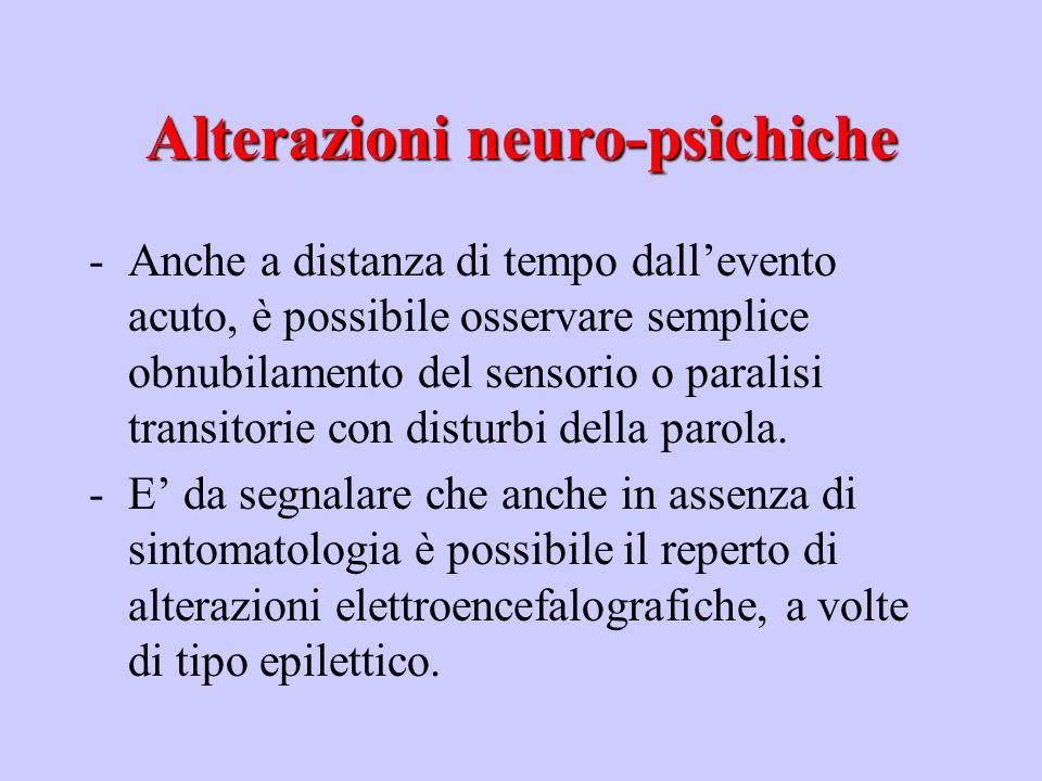 Alterazioni neuro-psichiche