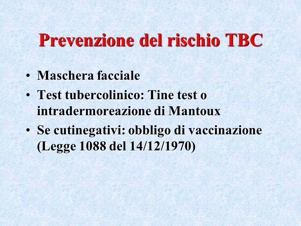 Prevenzione del rischio TBC