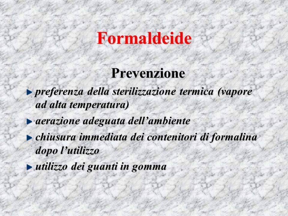 Formaldeide Prevenzione