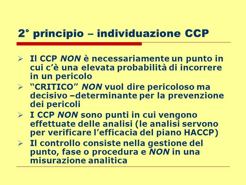 2° principio – individuazione CCP