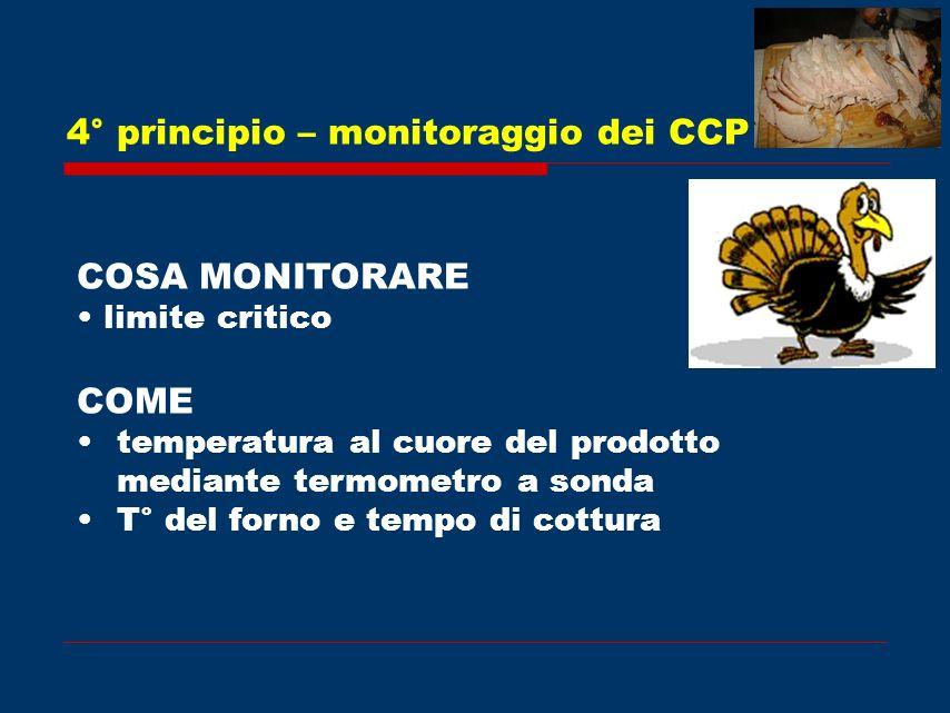 4° principio – monitoraggio dei CCP