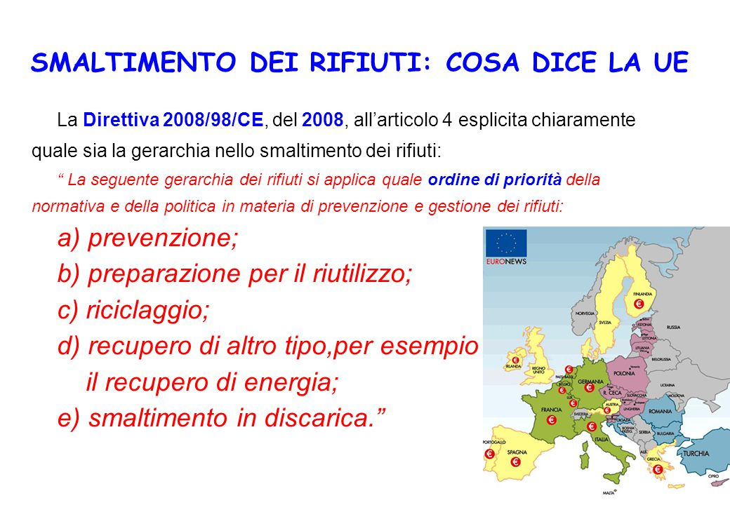 SMALTIMENTO DEI RIFIUTI: COSA DICE LA UE