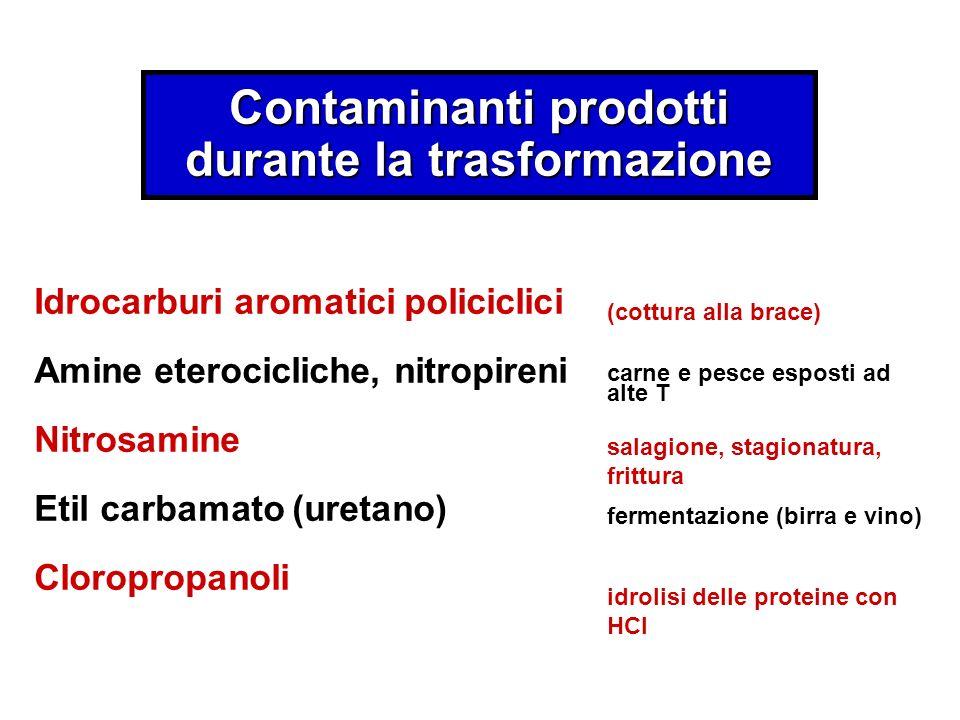 Contaminanti prodotti durante la trasformazione