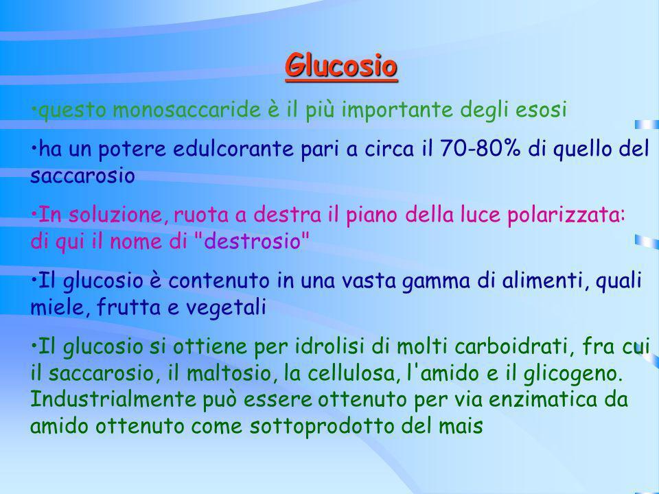 Glucosio questo monosaccaride è il più importante degli esosi