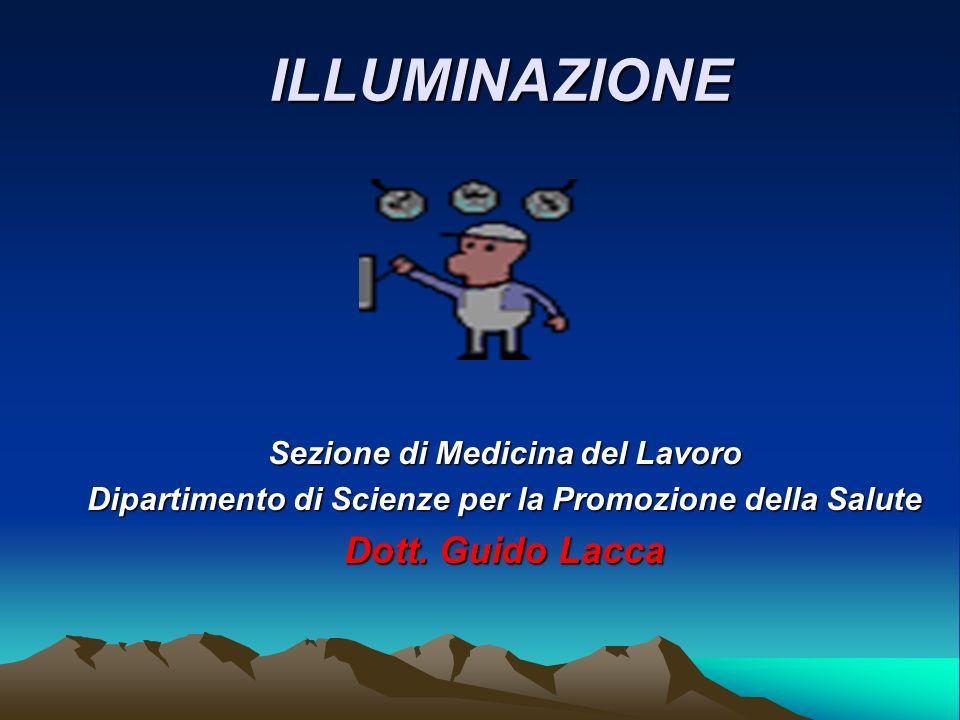 ILLUMINAZIONE Dott. Guido Lacca Sezione di Medicina del Lavoro