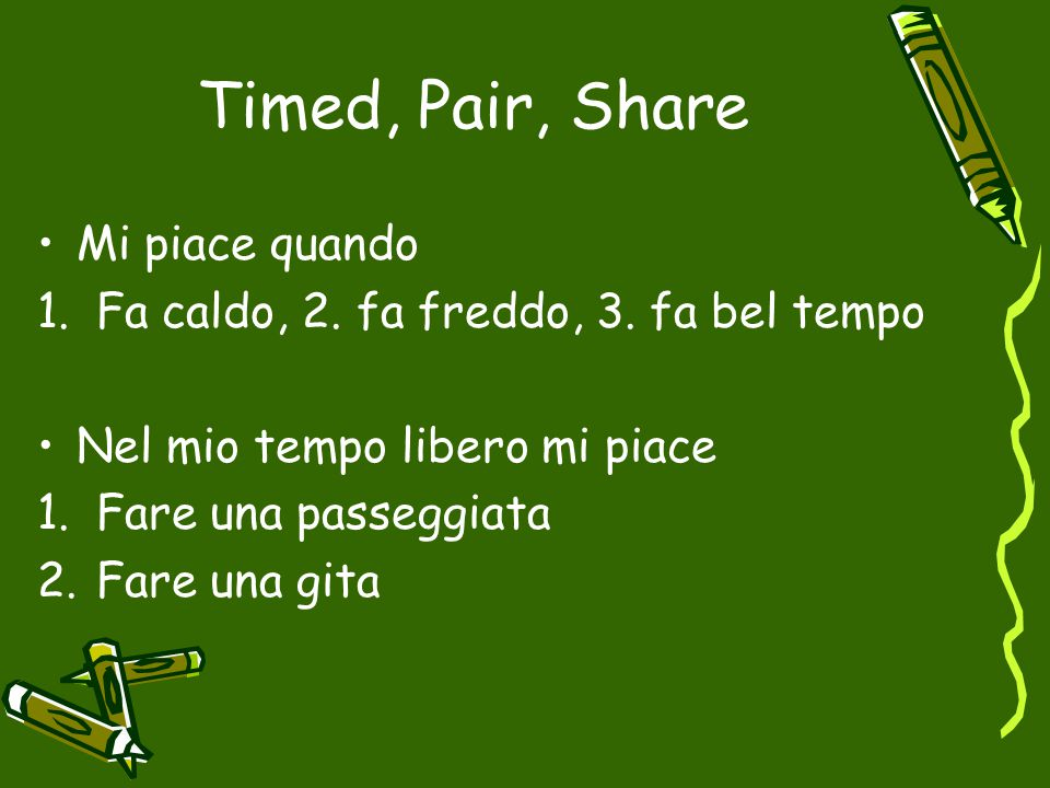 Timed, Pair, Share Mi piace quando