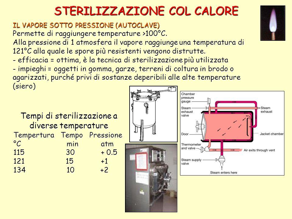 STERILIZZAZIONE COL CALORE