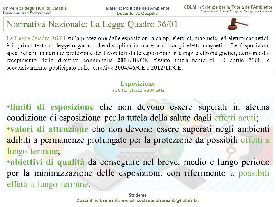 Normativa Nazionale: La Legge Quadro 36/01