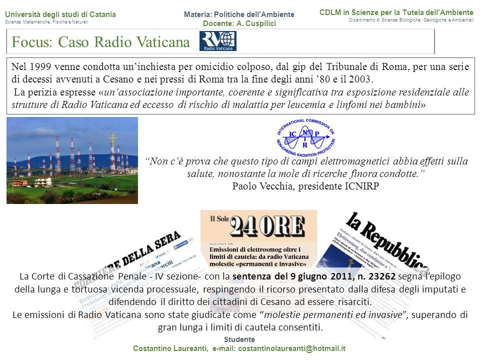 Focus: Caso Radio Vaticana