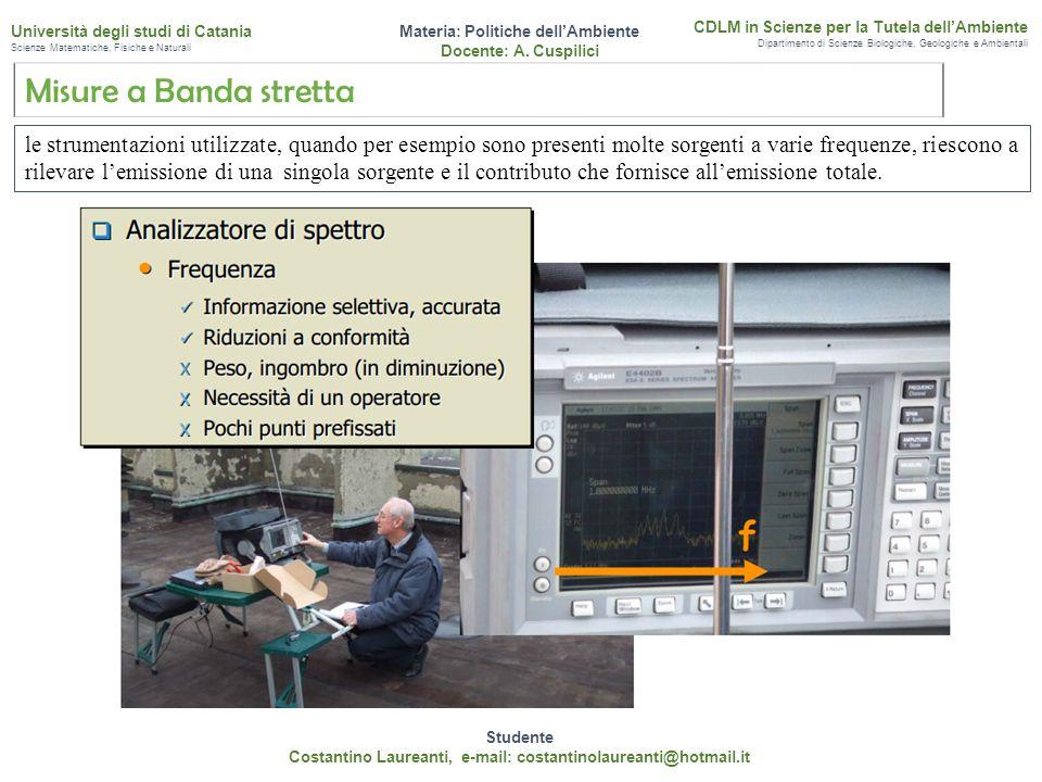 Studente Costantino Laureanti, e-mail: costantinolaureanti@hotmail.it. Materia: Politiche dell'Ambiente.