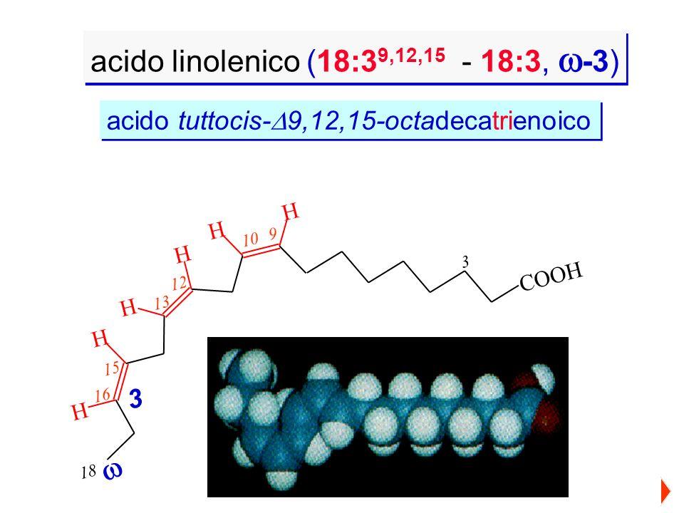 acido linolenico (18:39,12,15 - 18:3, -3)
