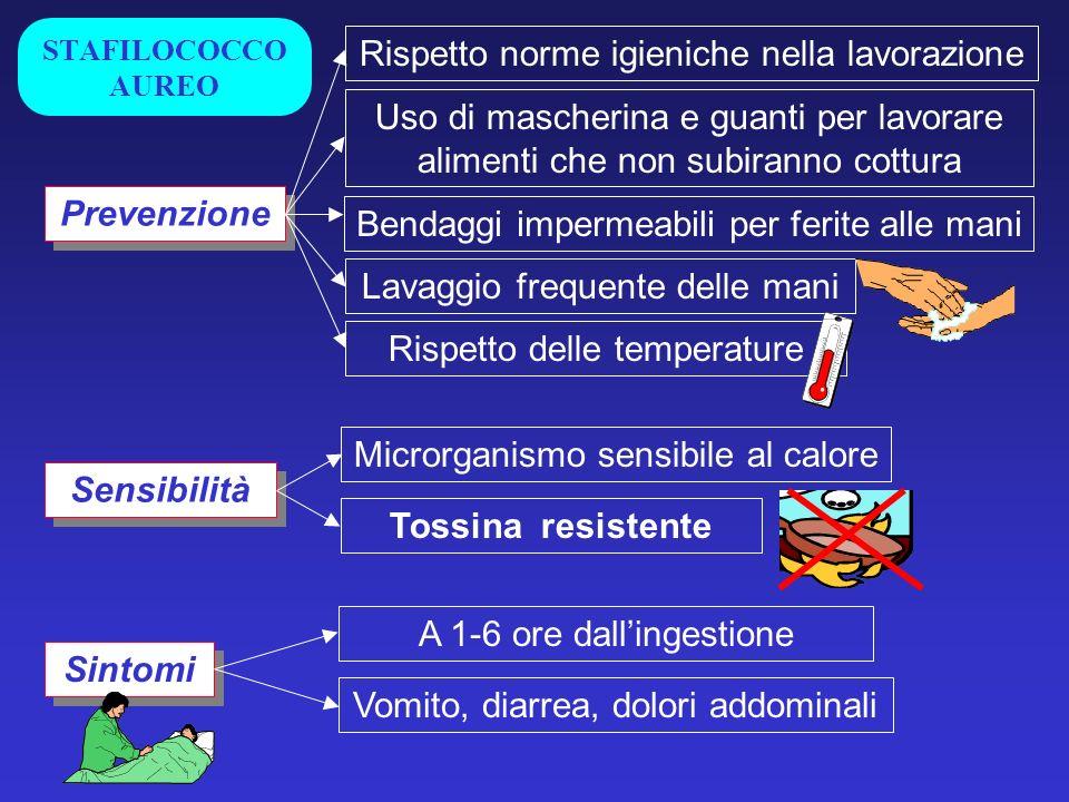 Prevenzione Sensibilità Tossina resistente Sintomi