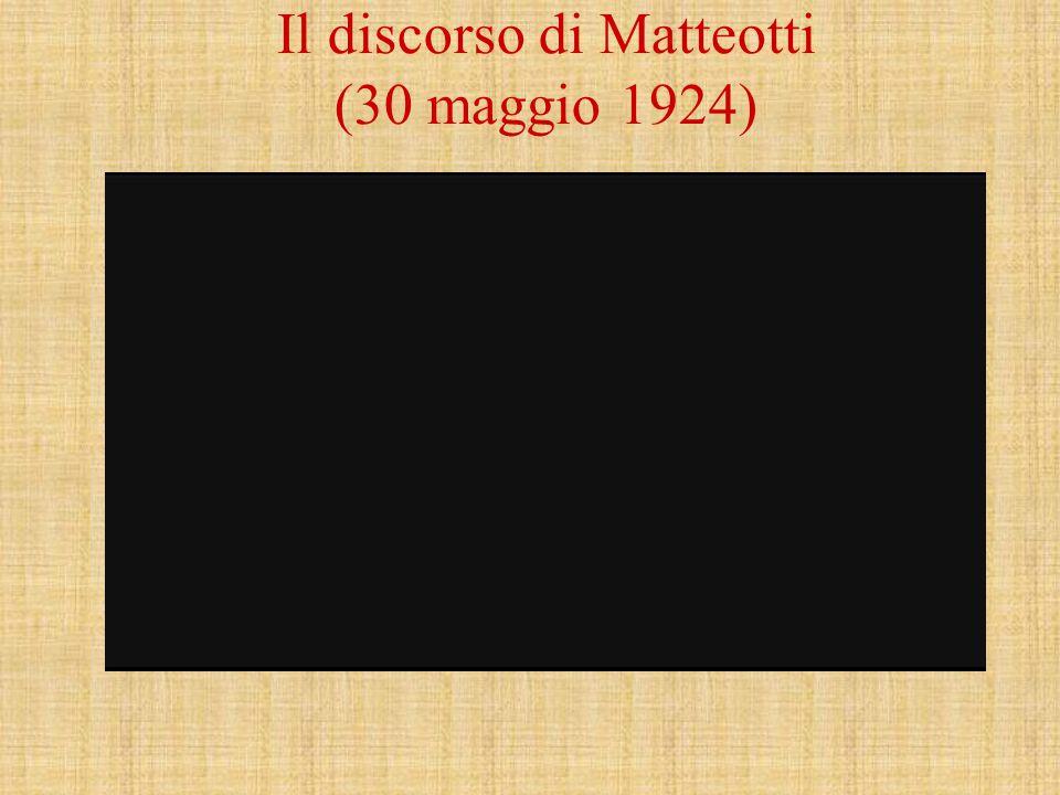 Il discorso di Matteotti (30 maggio 1924)