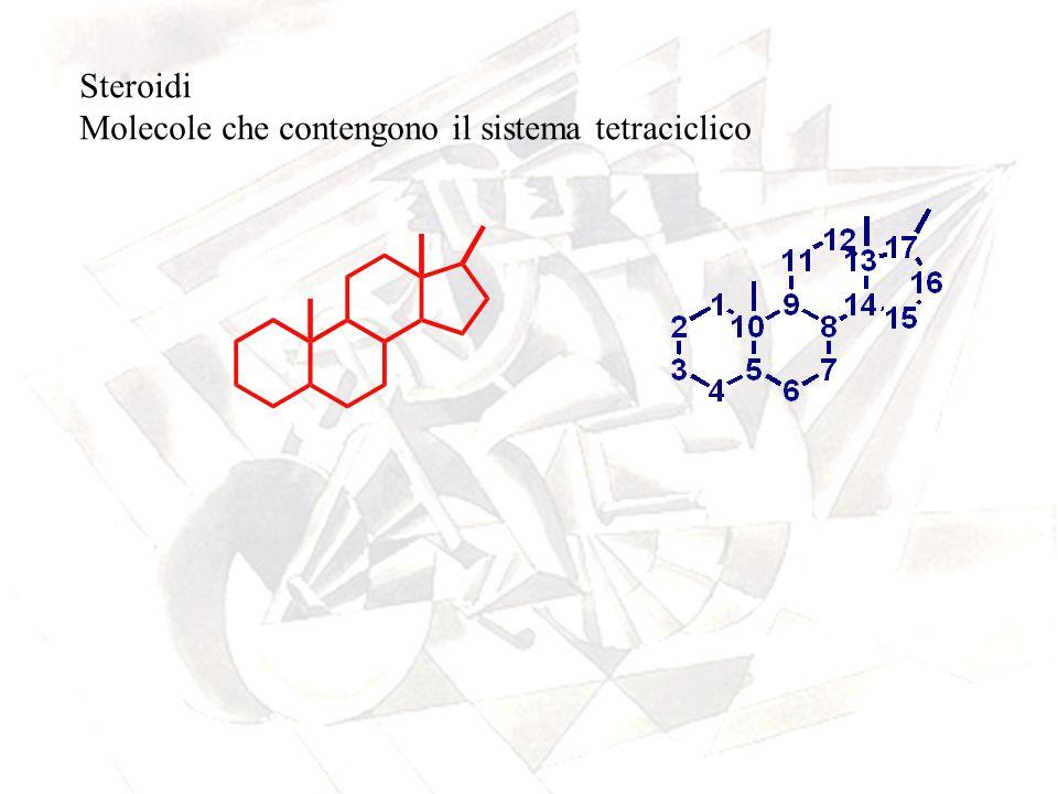 Steroidi Molecole che contengono il sistema tetraciclico