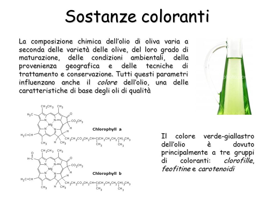 Sostanze coloranti