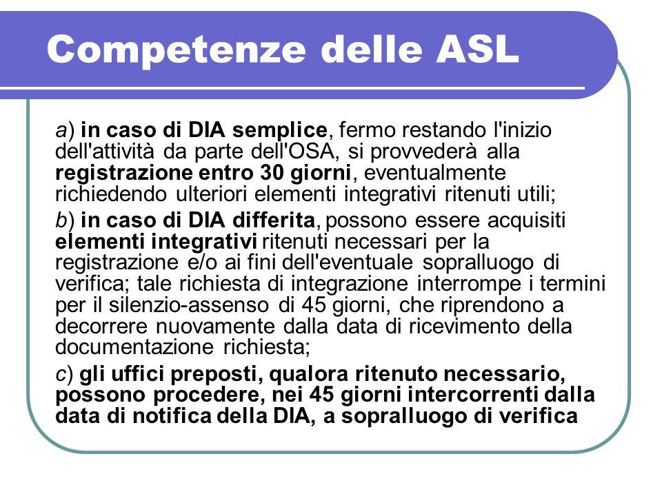 Competenze delle ASL
