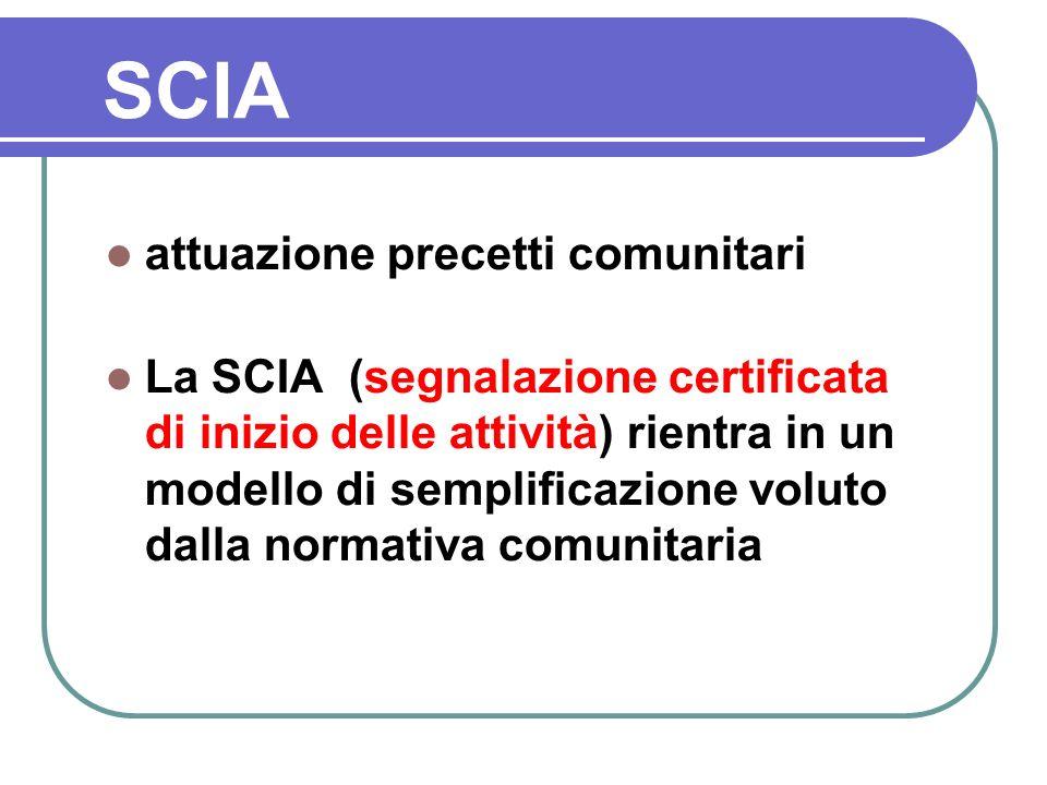 SCIA attuazione precetti comunitari