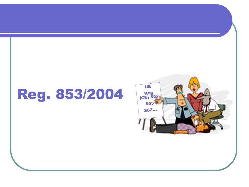 Reg. 853/2004 UE Reg (CE) 852 853 882…