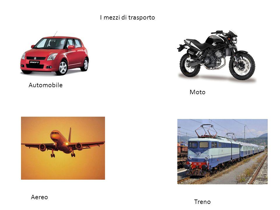 I mezzi di trasporto Automobile Moto Aereo Treno