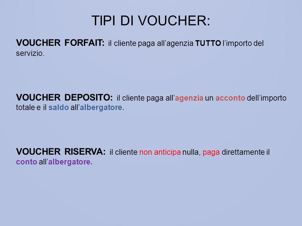 TIPI DI VOUCHER: