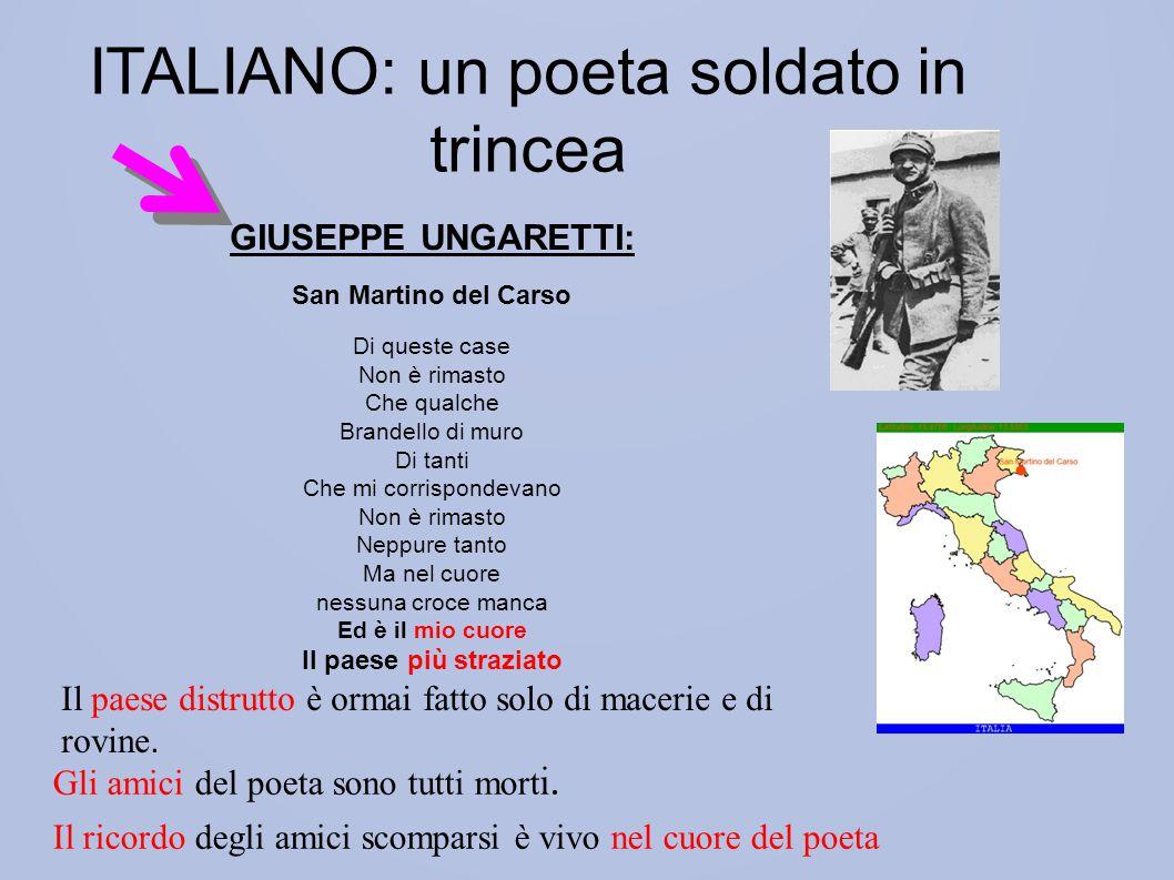 ITALIANO: un poeta soldato in trincea