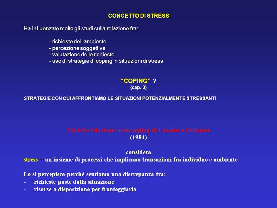 Modello relazione stress/coping di Lazarus e Folkman