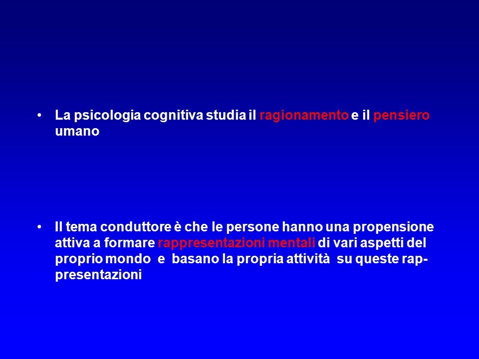 La psicologia cognitiva studia il ragionamento e il pensiero umano