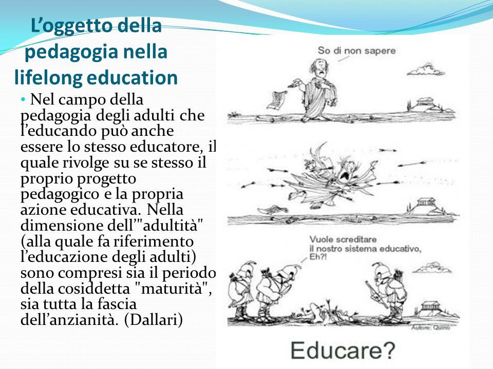 L'oggetto della pedagogia nella lifelong education