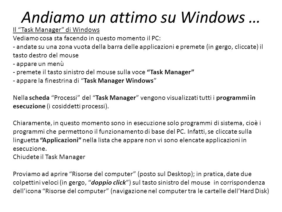 Andiamo un attimo su Windows …