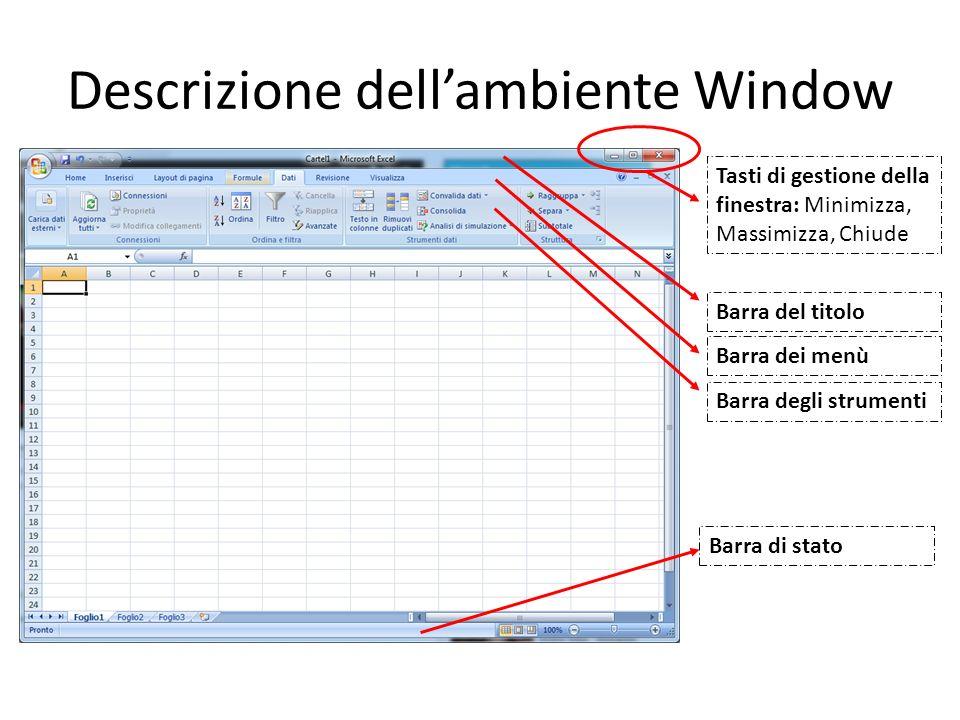 Descrizione dell'ambiente Window