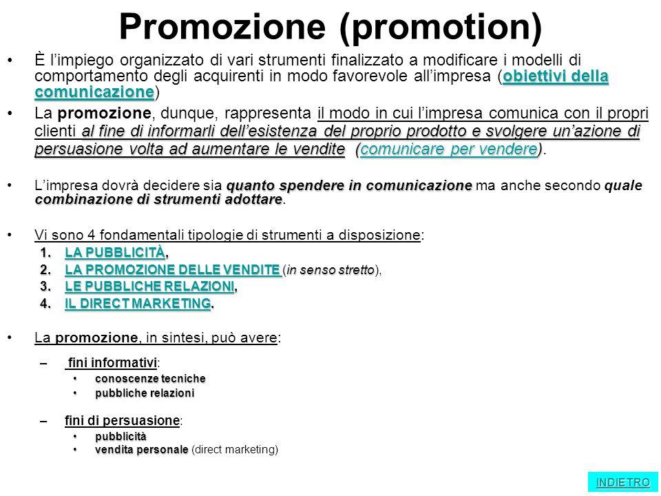 Promozione (promotion)