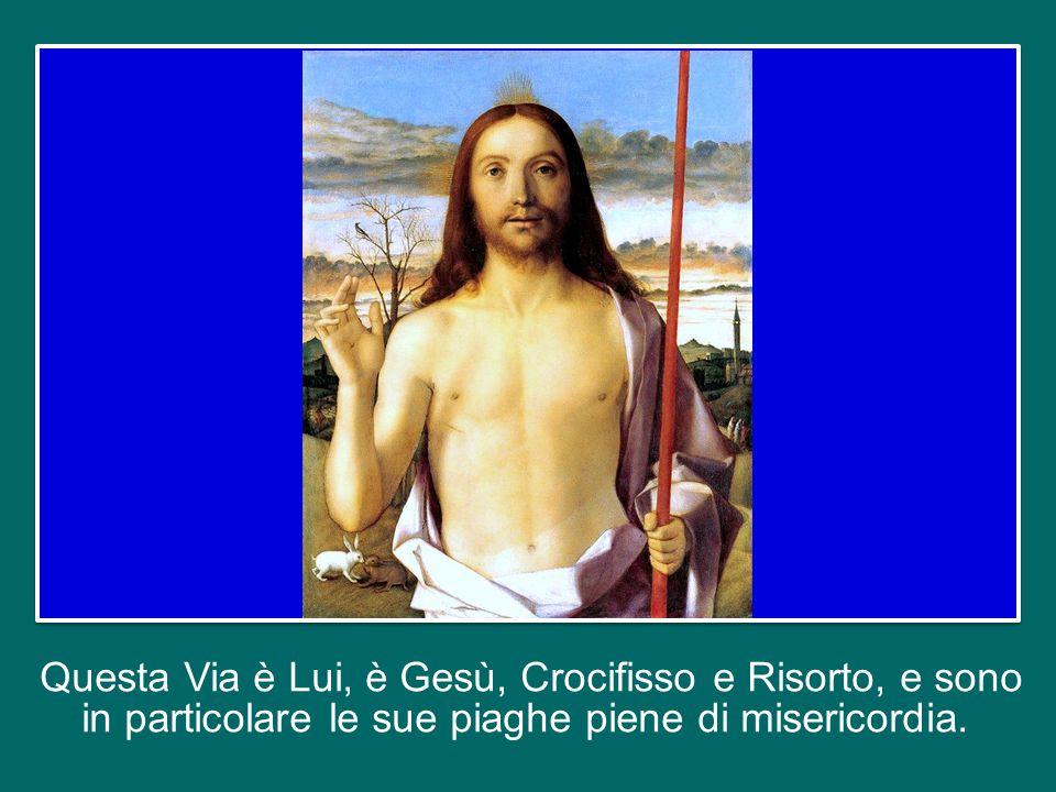 Questa Via è Lui, è Gesù, Crocifisso e Risorto, e sono in particolare le sue piaghe piene di misericordia.