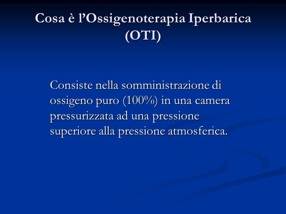 Cosa è l'Ossigenoterapia Iperbarica (OTI)