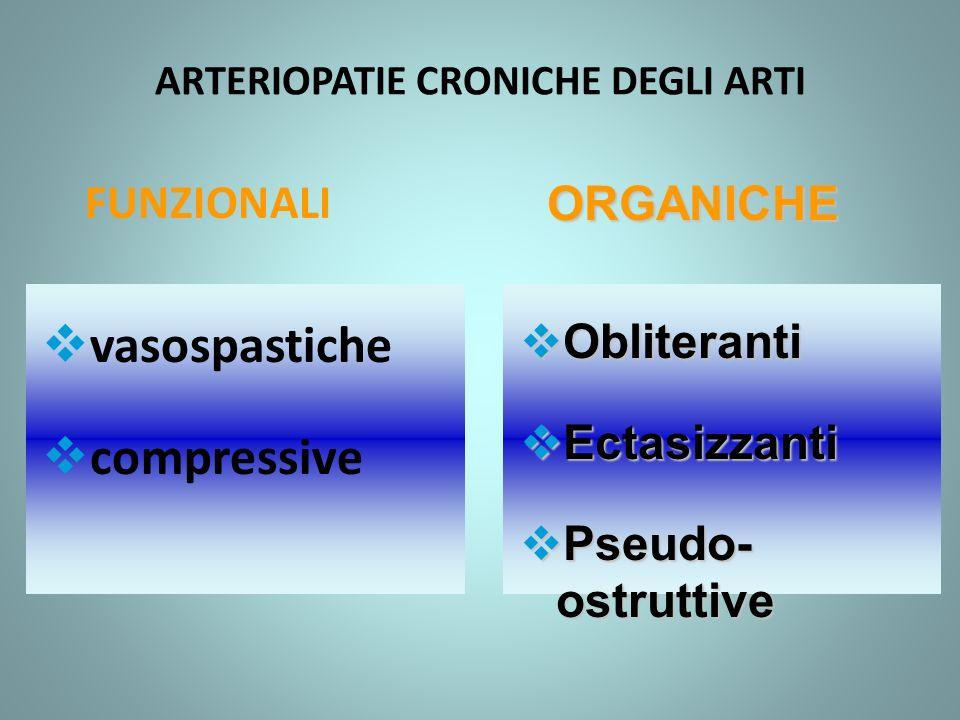 ARTERIOPATIE CRONICHE DEGLI ARTI