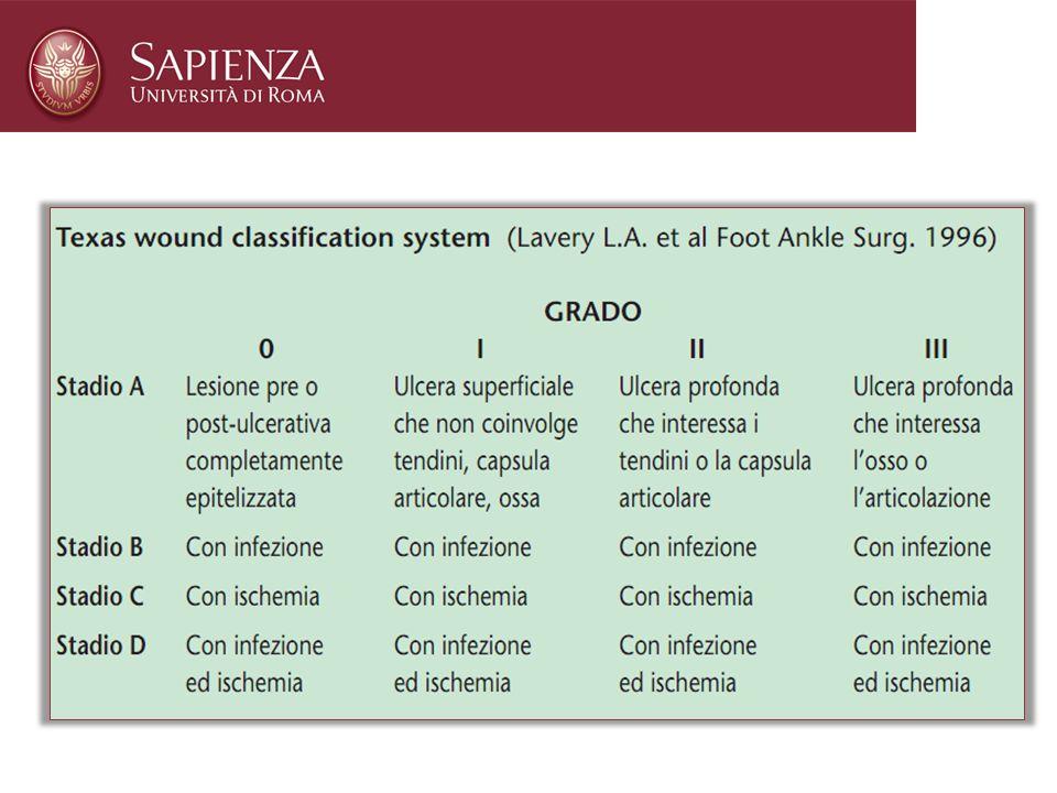 nella classificazione secondo Wagner l'infezione non compare fino al 3° stadio