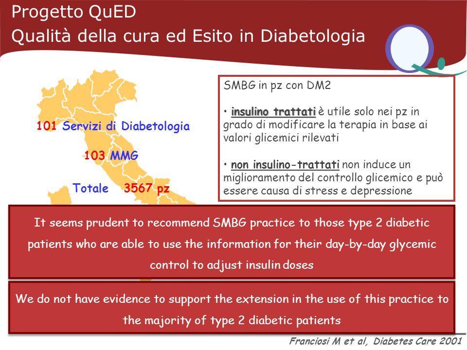 Qualità della cura ed Esito in Diabetologia