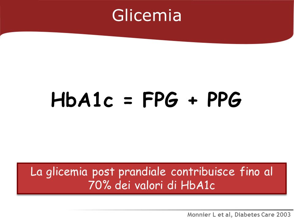 HbA1c = FPG + PPG Glicemia