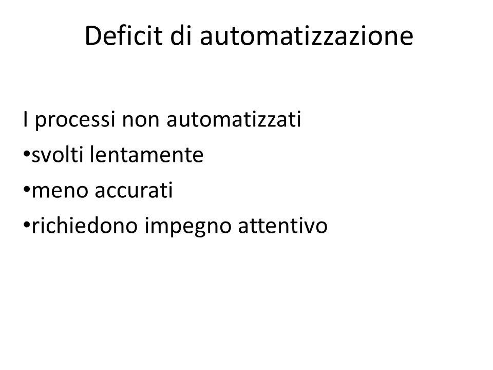Deficit di automatizzazione