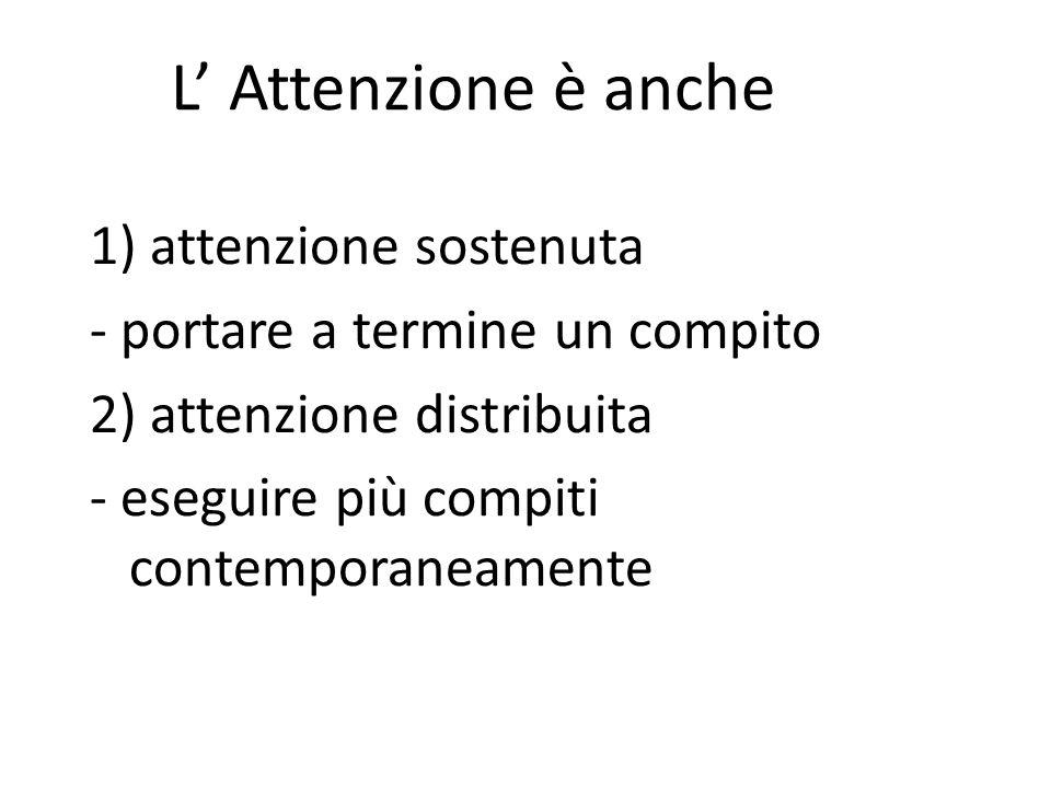 L' Attenzione è anche 1) attenzione sostenuta