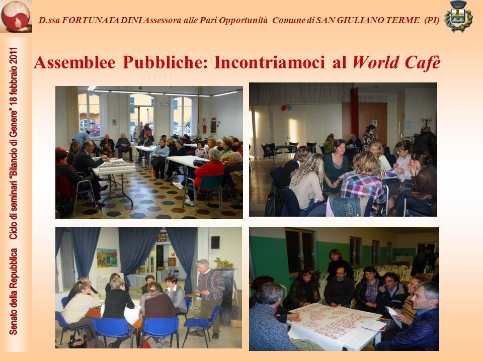 Assemblee Pubbliche: Incontriamoci al World Cafè