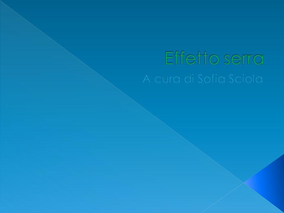 Effetto serra A cura di Sofia Sciola