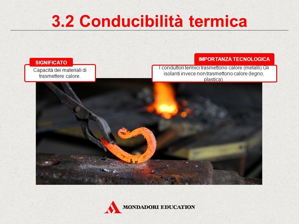 3.2 Conducibilità termica IMPORTANZA TECNOLOGICA