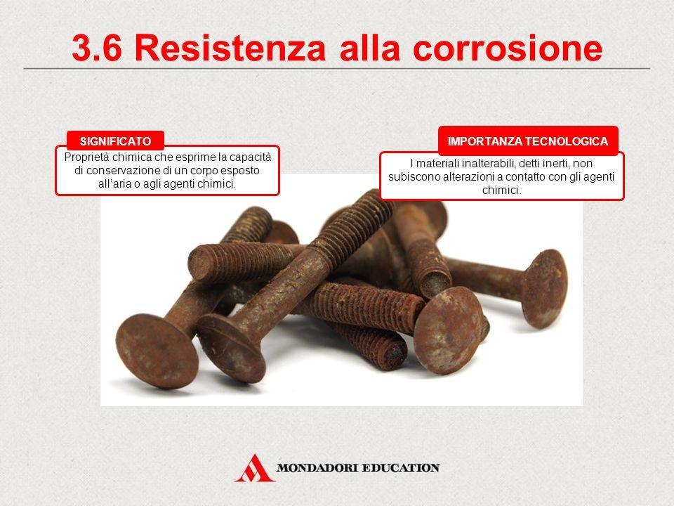 3.6 Resistenza alla corrosione IMPORTANZA TECNOLOGICA