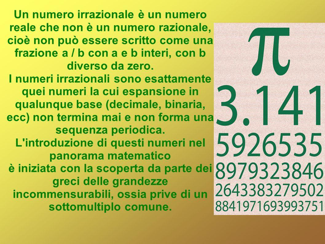 L introduzione di questi numeri nel panorama matematico
