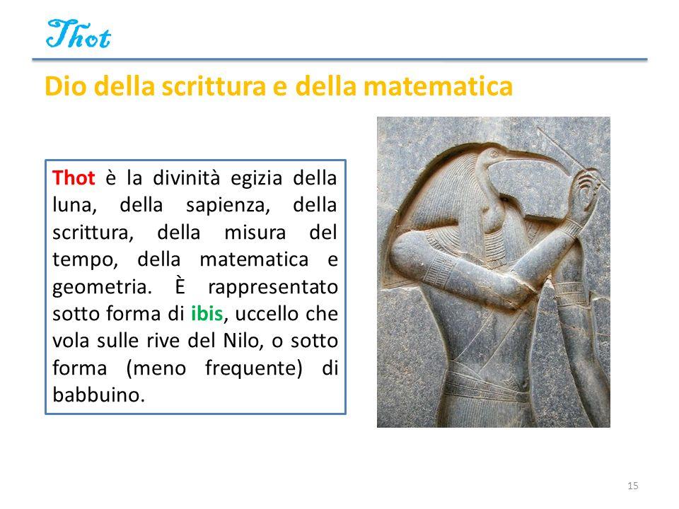 Thot Dio della scrittura e della matematica
