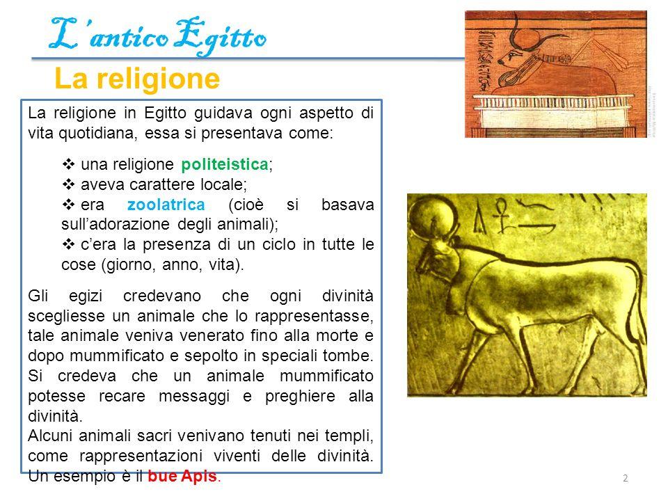 L'antico Egitto La religione
