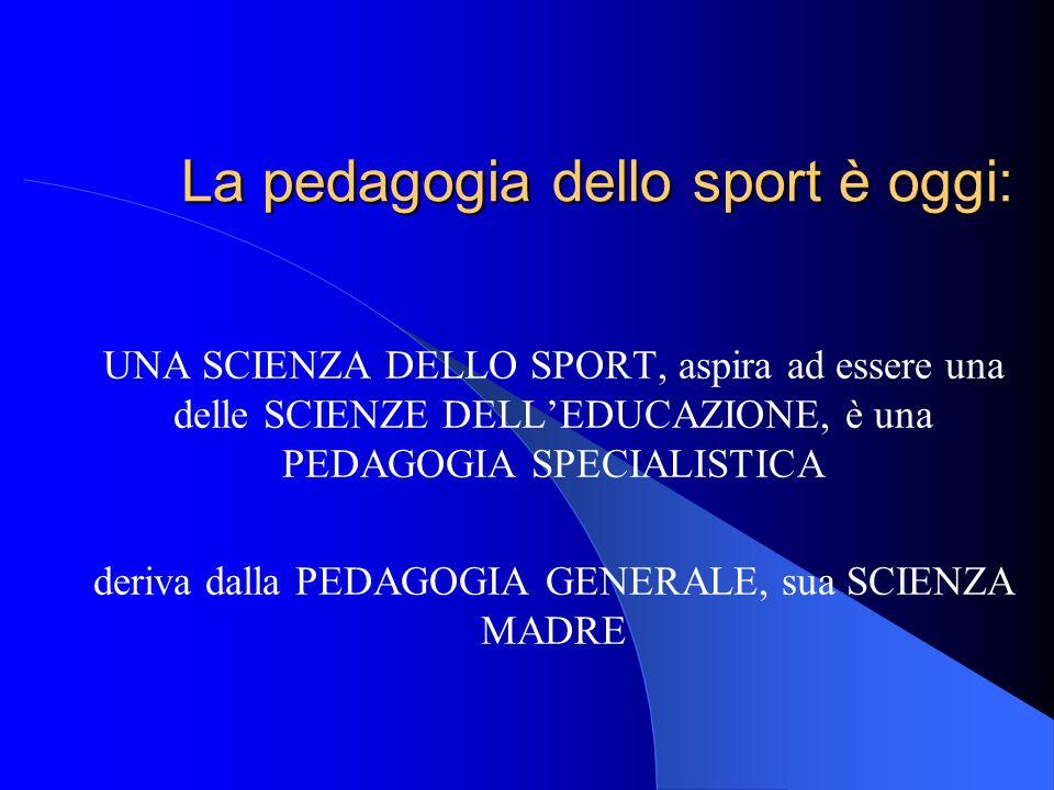 La pedagogia dello sport è oggi: