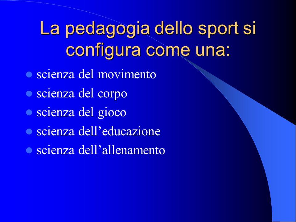 La pedagogia dello sport si configura come una: