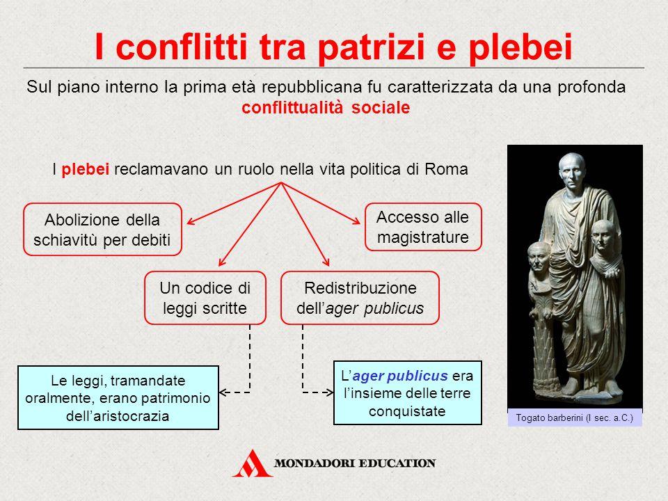 I conflitti tra patrizi e plebei