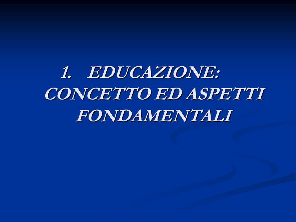 EDUCAZIONE: CONCETTO ED ASPETTI FONDAMENTALI